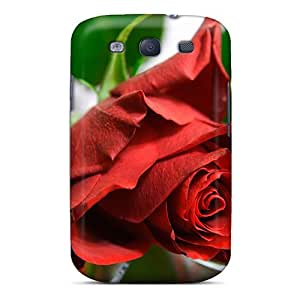 JGOke Fashion Protective Red Rose Case Cover For Galaxy S3