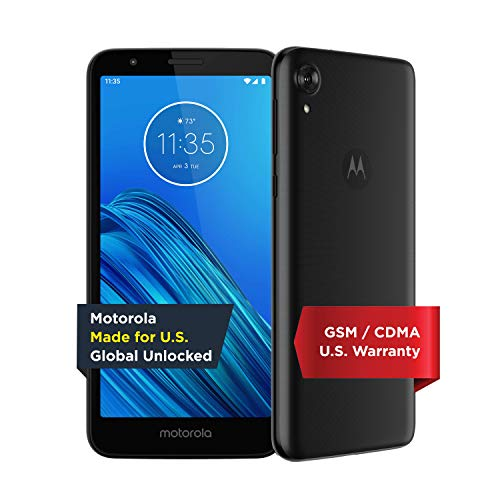 Moto E6 (2019) - Unlocked Smartphone - Global Version - 16GB - Starry Black (US Warranty) - Verizon, AT&T, T-Mobile, Sprint, Boost, Cricket, & Metro