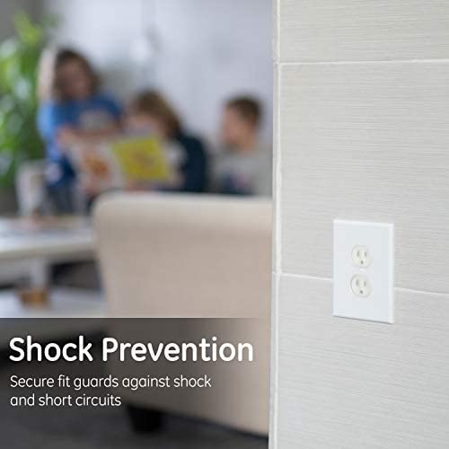 41W5ZwVqb6L. AC GE, Clear Child Safety, 30 Pack, Covers,Keep Children Safe, For Unused Electrical Outlets, Easy to Install, Guards Against Shocks, Plastic, 51175    Cover any unused electrical outlets with Safety Outlet Covers from GE. Protect your home and family with these high-quality outlet covers. These safety outlet covers are the smart, easy way to help keep children from touching or attempting to insert objects into electrical outlets. The one-piece design plugs directly into your outlets for a tight, easy fit. The safety covers also guard against shocks and help prevent short circuits. The outlet covers also help in keeping your home energy efficient by preventing drafts throughout your home. Please note that the outlet covers are intended to make it difficult for children to gain access to energized outlets. Like any other child-resistant product, this device is not a substitute for adult supervision. This product is UL listed and is backed by a 90-day limited.