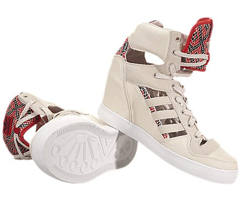 info for 9efec 70f47 Amazon.com Adidas Attitude Cutout Up EF Wedge - Bliss  Bliss-Red, 6 B US  Shoes