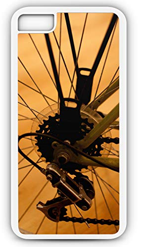 iPhone 7 Plus 7+ Case Bicycle Circuit Rear Derailleur Gears Course Chain Customizable by TYD Designs in White Plastic
