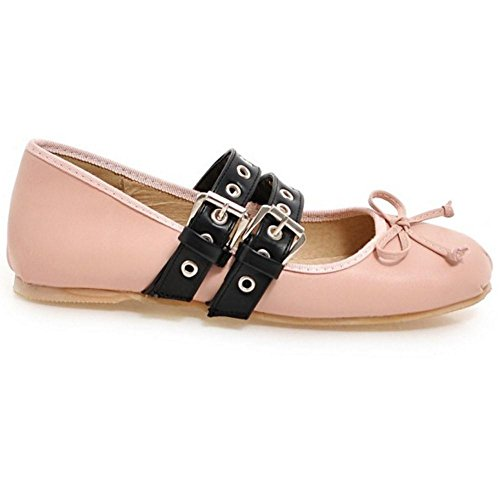 Pink Cheville Flates Bride TAOFFEN Femmes 05 Escarpins xwXZFnUICq