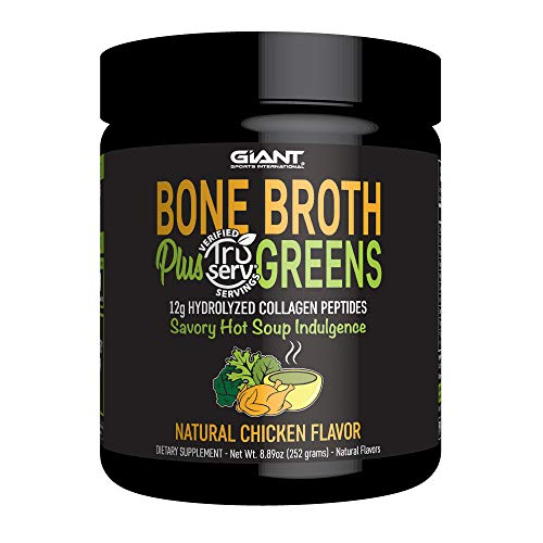 Green Cook Whisk (Bone Broth Plus Greens - Bone Broth Protein Powder with Collagen Peptides and a TruServ(R) Verified Serving of USDA Certified Organic Greens - Natural Chicken Flavor, 14 Servings)