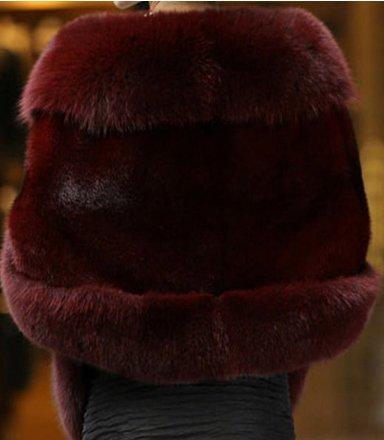 PLAER - Abrigo - capa - para mujer granate
