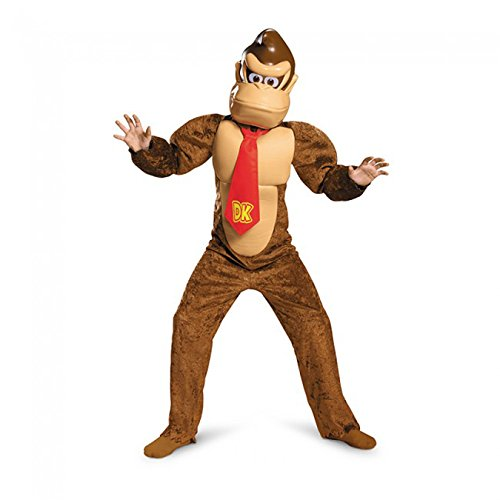 Super Gorilla Child Costumes (Donkey Kong Deluxe Super Mario Bros. Nintendo Costume, Small/4-6)