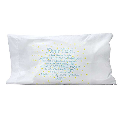 Dicksons Dear God Night Time Prayer Cotton Blend Glow-in-The-Dark Standard Size Pillow Case