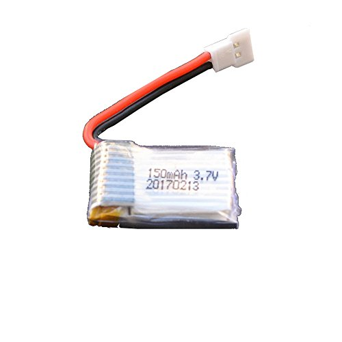 Huangou �� Battery �� 1 Pcs 3.7V 150mAh Battery for Drone JJRC H8 RC Quadcopter,Easy to Install. (White, Free)