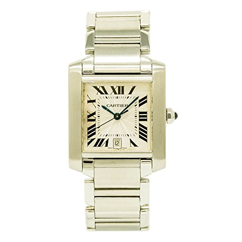 Cartier Tank Francaise Quartz Mens Watch 2302 (Certified Pre-Owned)