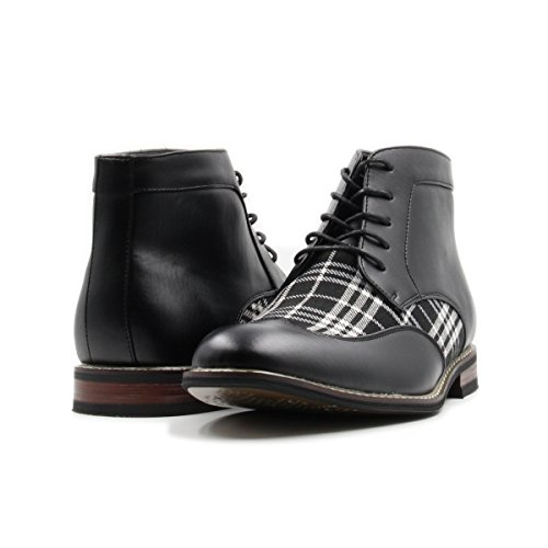 Mens Lace Up Plaid Oxford Wing Tip Dress Classic Formal Ankle Shoes