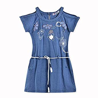 Le Crystal, Girls Stylish Knit Middy, Blue