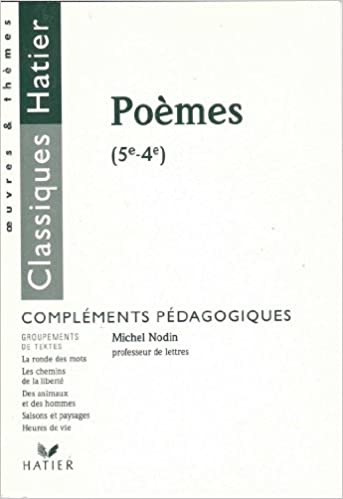 Lire Poèmes, 5e-4e : Compléments pédagogiques pdf epub