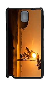 carrying cases evening foggy sunset PC Black case/cover for Samsung Galaxy Note 3 N9000