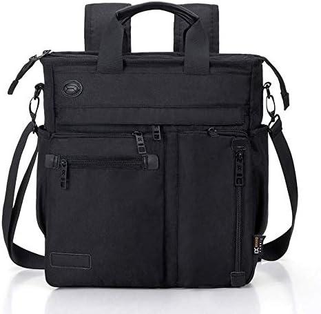 AMAZACER クロスボディメッセンジャーバッグ、ラップトップバッグ、男性と女性の大学大学院ビジネススポーツ旅行用のための多機能ショルダーバッグ (Color : Black)