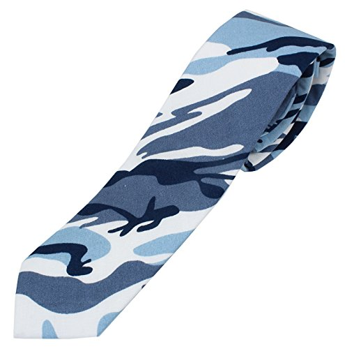 Men's Cotton Skinny Necktie Camouflage Pattern - -