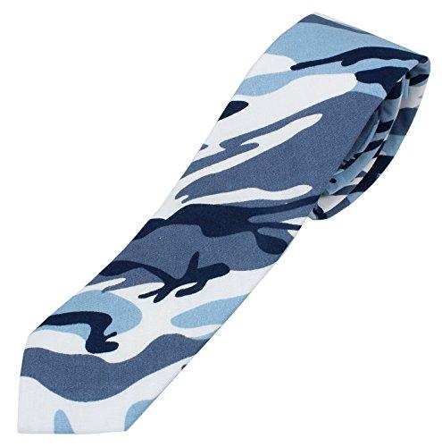Men's Cotton Skinny Necktie Camouflage Pattern - - Camouflage Necktie