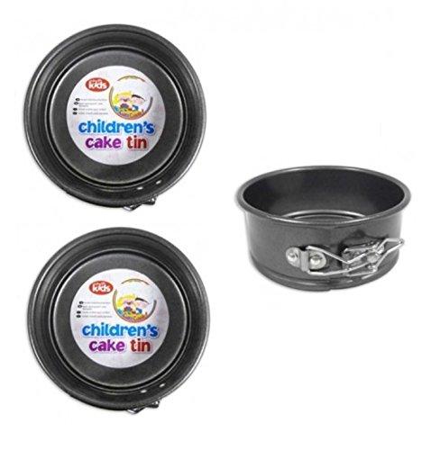 2 x Childrens Mini 12.5cm 5 Inch Non Stick Springform Round Cake Tin Baking Tin RSW UKASNHKTN3204