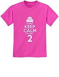 2nd Birthday Cake - I Can't Keep Calm I'm Two Boy Girl Funny Kids T-Shirt 4T Pink