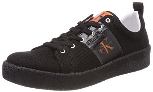 Jean Calvin Klein Hommes Baskets Gerardo Twill, Noir (blk 000)