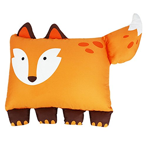 MILO & GABBY The Original Kids Animal, 100% Steen Cotton, 320 - Thread count, Zippered Closure Pillow cover, 20 x 27 inches, Cleo the Fox