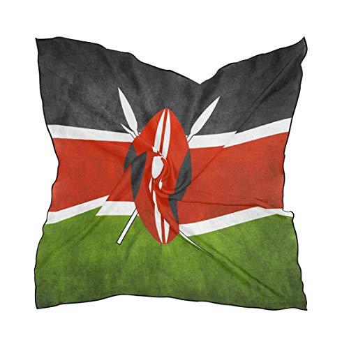 (Women's Graphic Print Premium Silk, Misc Flag Of Kenya Silk Scarf Square, 24X24 Inches )