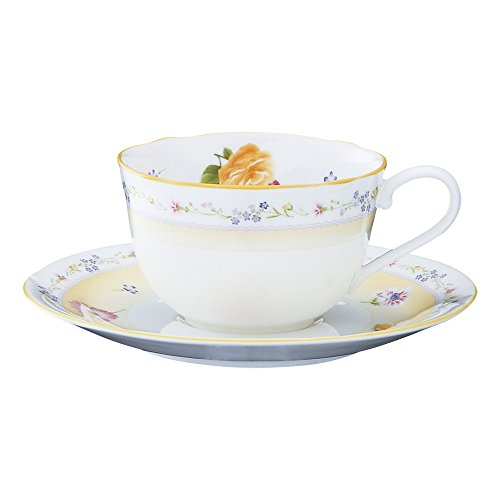 Bone china Genevieve Freres tea and coffee porcelain bowl plate (1 customer) T59387A/4620 (japan import)
