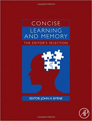 Read online Concise Learning and Memory: The Editor's Selection PDF, azw (Kindle)