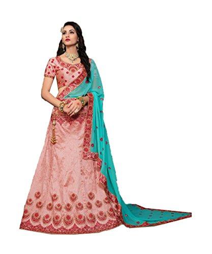Da Facioun Concepteur Indien Partywear Lehenga Ethnique Rose Traditionnelle Choli