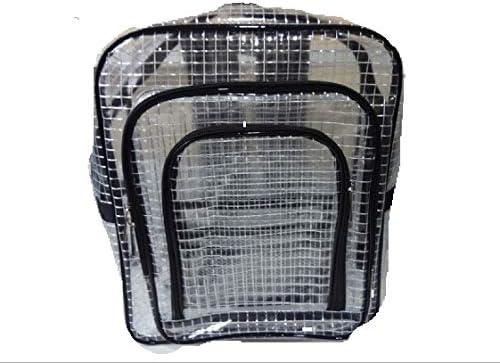 kanglifenクリーンルーム用静電防止エンジニア工具バッグ透明防水pvcリュックサックPC収納40cm*35cm*15cm