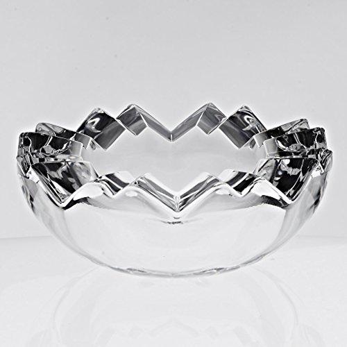 Lead Crystal Glass Ashtray - CRISTALICA Crystal Ashtray SMOK-King 12,5 cm, Transparent, Lead Crystal, Glass (German Crystal Powered