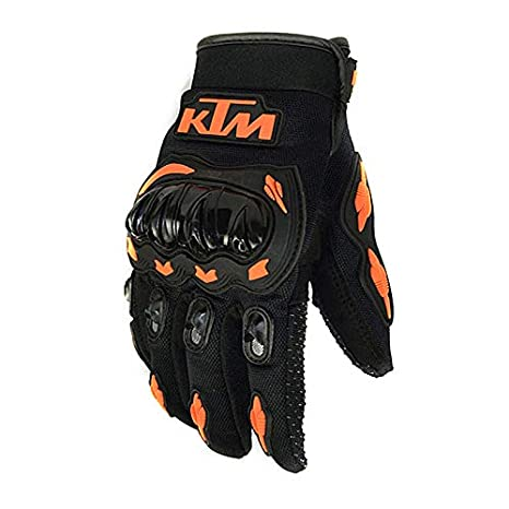 KTM Arancione Guanti Motocross per Uomo//Donna Guanti Moto Invernali Guanti Scooter MTB Full Finger Unisex Qiyun Protezione per Attivit/à Esterna