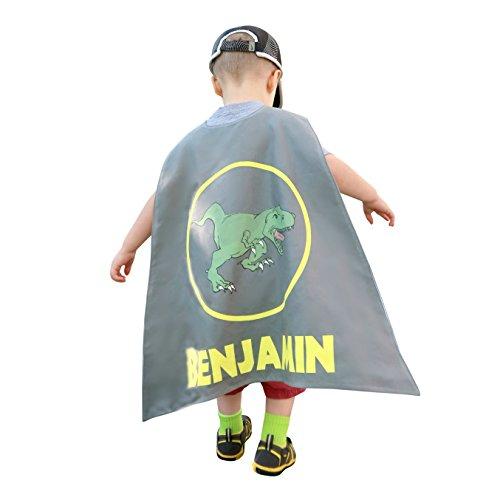 Personalized Kids Capes (Dinosaur), Superhero Costumes for Boys, Boys Dinosaur Cape for Kids ()