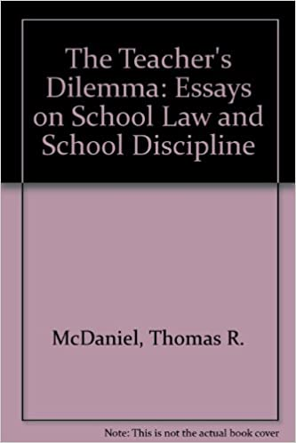 Sample Thesis Essay Amazoncom The Teachers Dilemma Essays On School Law And School  Discipline  Thomas R Mcdaniel Books Thesis Statement Examples Essays also College Essay Thesis Amazoncom The Teachers Dilemma Essays On School Law And School  Topics For Essays In English