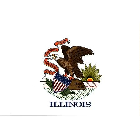 Illinois flag decal for auto, truck or boat