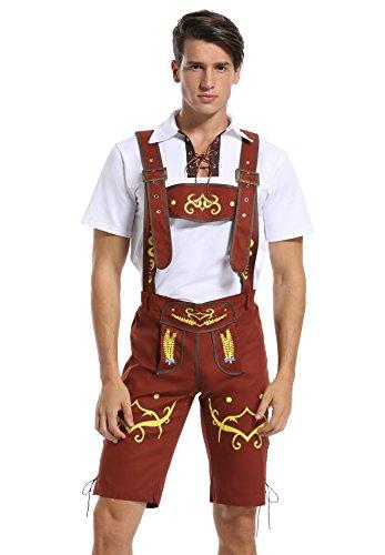 German Beerfest Costume (Men's Oktoberfest German Bavarian Costume Halloween Cosplay Outfit)