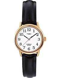 Timex Women's 20433 Easy Reader Black Leather Watch