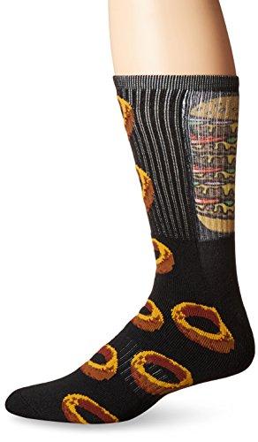 KurB Men's Six Deep Alt Fashion Crew Sock
