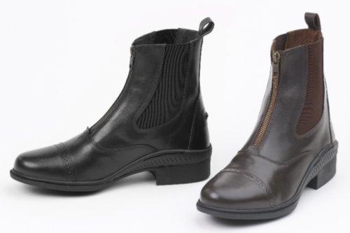 Ovation Aeros - Zip Paddock Boot (Black / Size 36) by Ovation