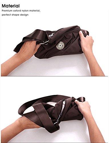 Ladies Bags Nylon Waterproof Womens Purple Handbag Brown Purse Cross Shoulder Multi Bags Strap Travel Pockets Shoulder Small body handbags Adjustable Shoulder Bag fz4zw
