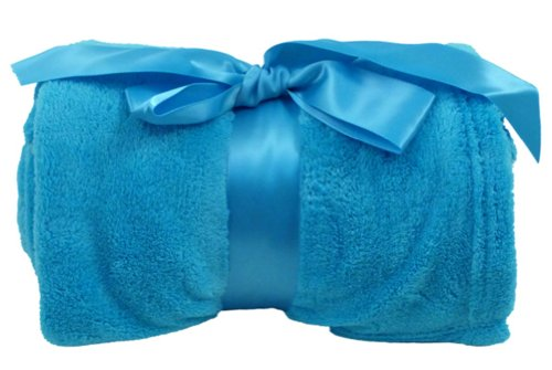 Simplicity Plush Colored Blanket Turquoise