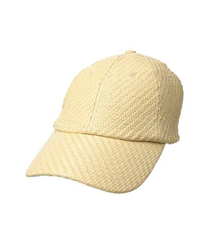 Woven Cap - Vera Bradley Women's Straw Baseball Hat Woven Neutral One Size