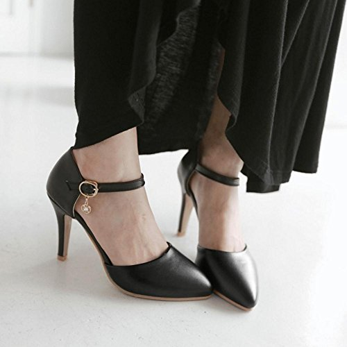 Black Shoes TAOFFEN Strap Toe Closed Women Sandals Ankle nx7w7fUqz
