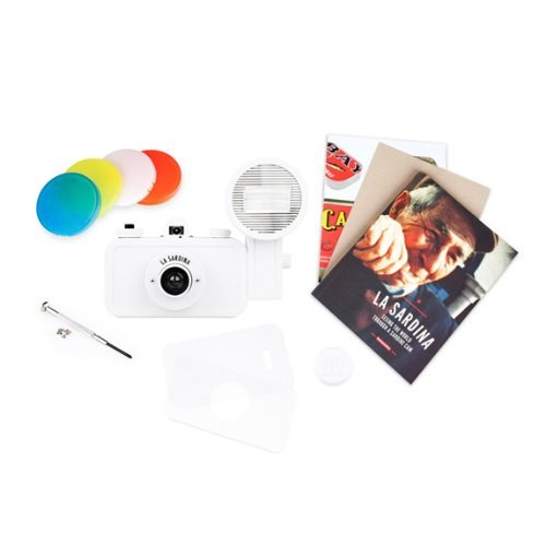 Lomography sp200diy La Sardina & Flash DIY Edition (White)
