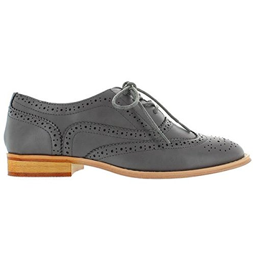 Wanted Shoes Womens Babe Oxford, Grey, 8 M US