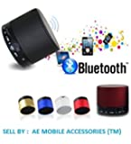 AE (TM) Mini Bluetooth Wireless Speaker (S10) - Multicolor for for iPhone 6, 6S 6Plus 5s 5c 5, iPad Air Air2 mini mini2 mini3, iPad 4th gen, iPod touch 5th gen, and iPod nano 7th gen For All Samsung Devices Galaxy S4 S5 S6 Note Edge Note+ All Smart Phones One + One Plus 2 oppo, Andriod With MIC FM Memory Card Slot USB Slot (color vary)