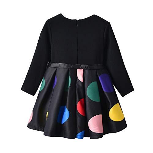 815e3435a Bestow Vestidos para niñas cinturón de Lunares para niños más Vestido de  Terciopelo Vestido de Manga Larga Ropa para niñas  Amazon.es  Ropa y  accesorios