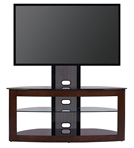TransDeco TV Stand with with Mount, 35 – 80 , Dark Oak Black