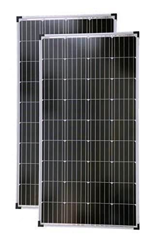 solartronics Solarmodule 2 Stück 130 Watt Mono Solarpanel Solarzelle Photovoltaik 90646