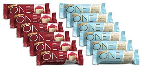 [Oh Yeah! ONE Bar 6 Birthday Cake/6 White Chocolate Raspberry (12 Bars Total)] (Think Thin High Protein Bar Chocolate Fudge)