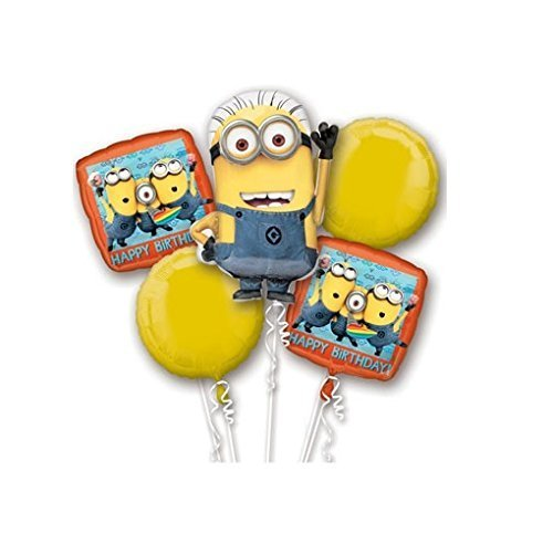 Amscan International 3272001 Foil Balloon, Group,Bouquet:Despicable Me