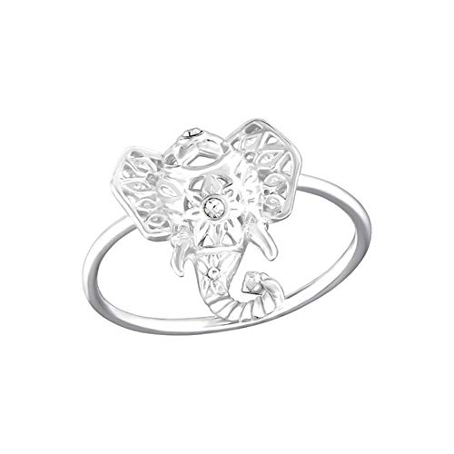 Caratera Elephant Jeweled Rings 925 Sterling Silver Nb of Crystal Stones: 2